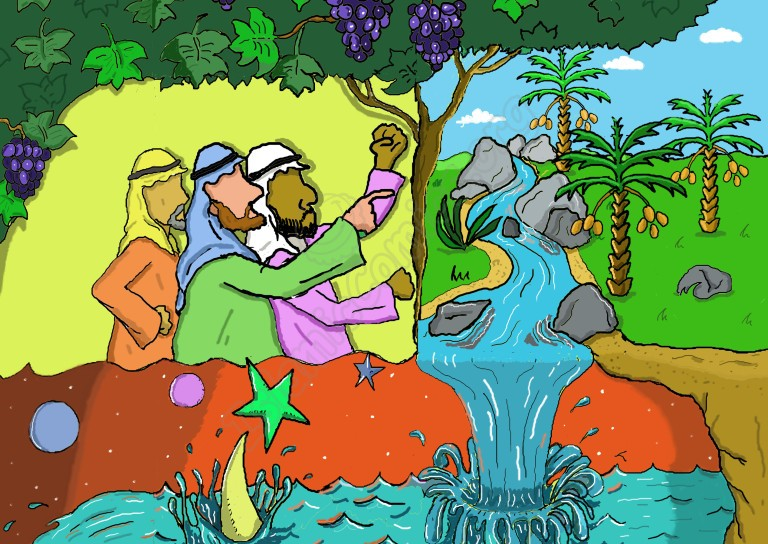 The Arabs tell Rasool Allah (SAW) that they will not believe until he shows them miracles like a spring gushing forth, or a garden of grapevines and dates or unless he causes the sky to fall to pieces