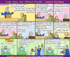 Islamic Comic reminding us of our Muslim brothers while we're having fun!