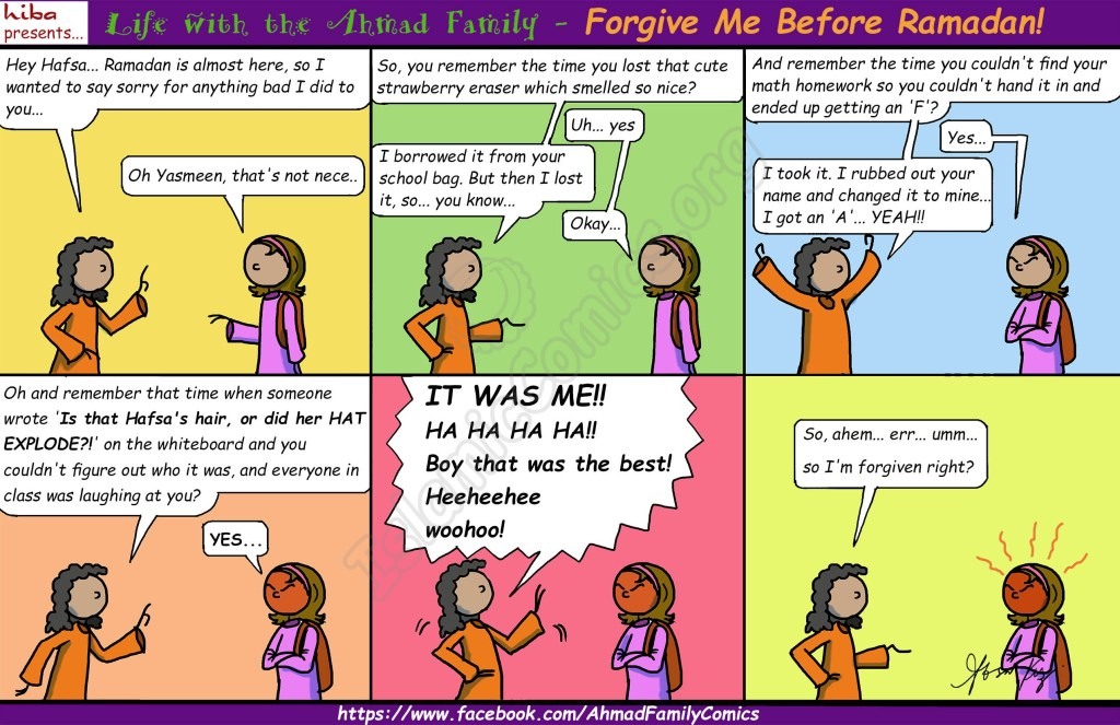 Forgive Me Before Ramadan - Life with the Ahmad Family (Islamic Comics)