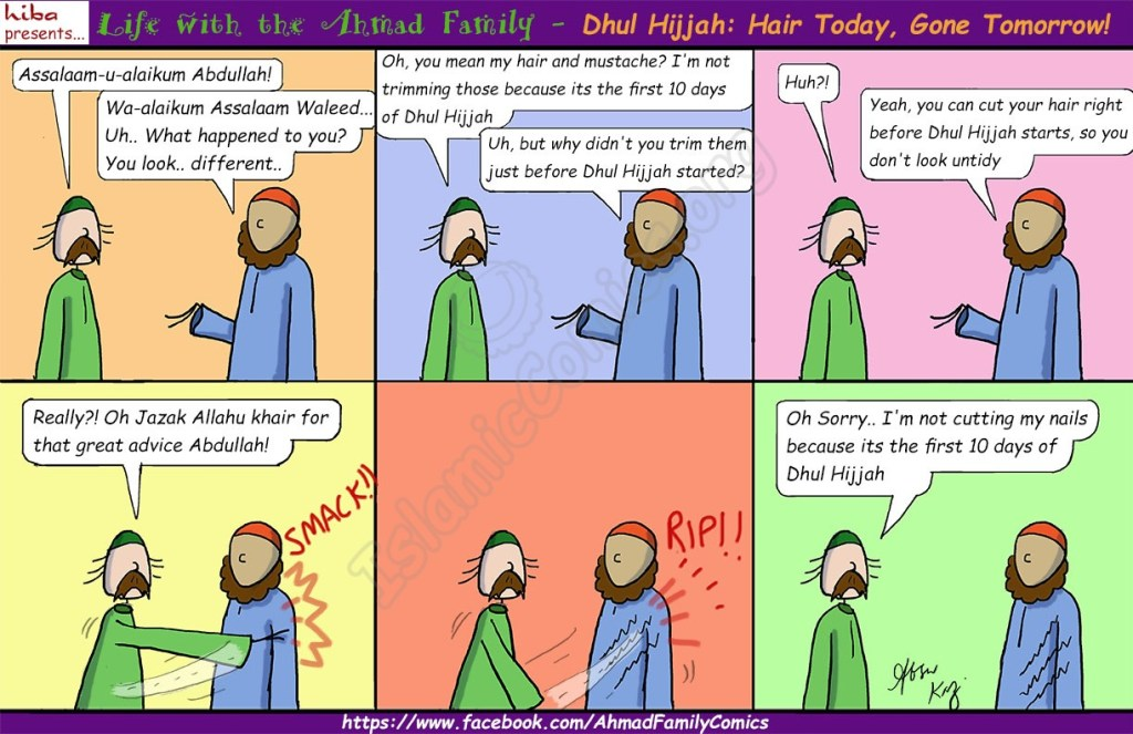 Dhul Hijjah – Hair Today, Gone Tomorrow! (Ahmad Family Comic