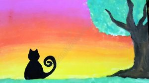 Cat in the Sunset - Hafsa Shaikh (Illustrations by Muslim Kids)