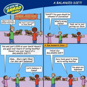 Balanced Diet - Ahmad Family Comic (Islamic Comics)