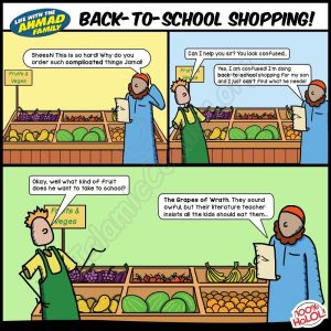 Back to School Shopping - Islamic Comics