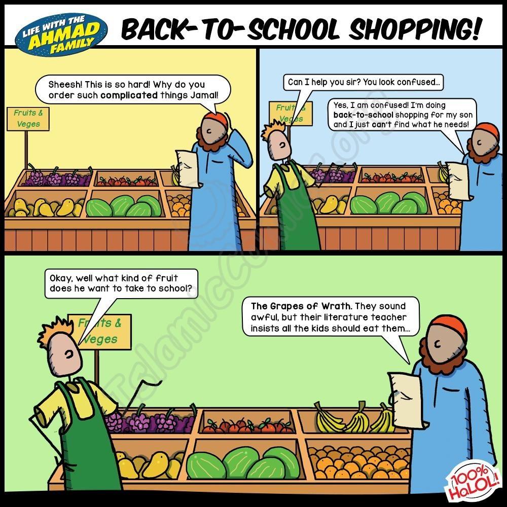 Back to School Shopping - Ahmad Family Comics!