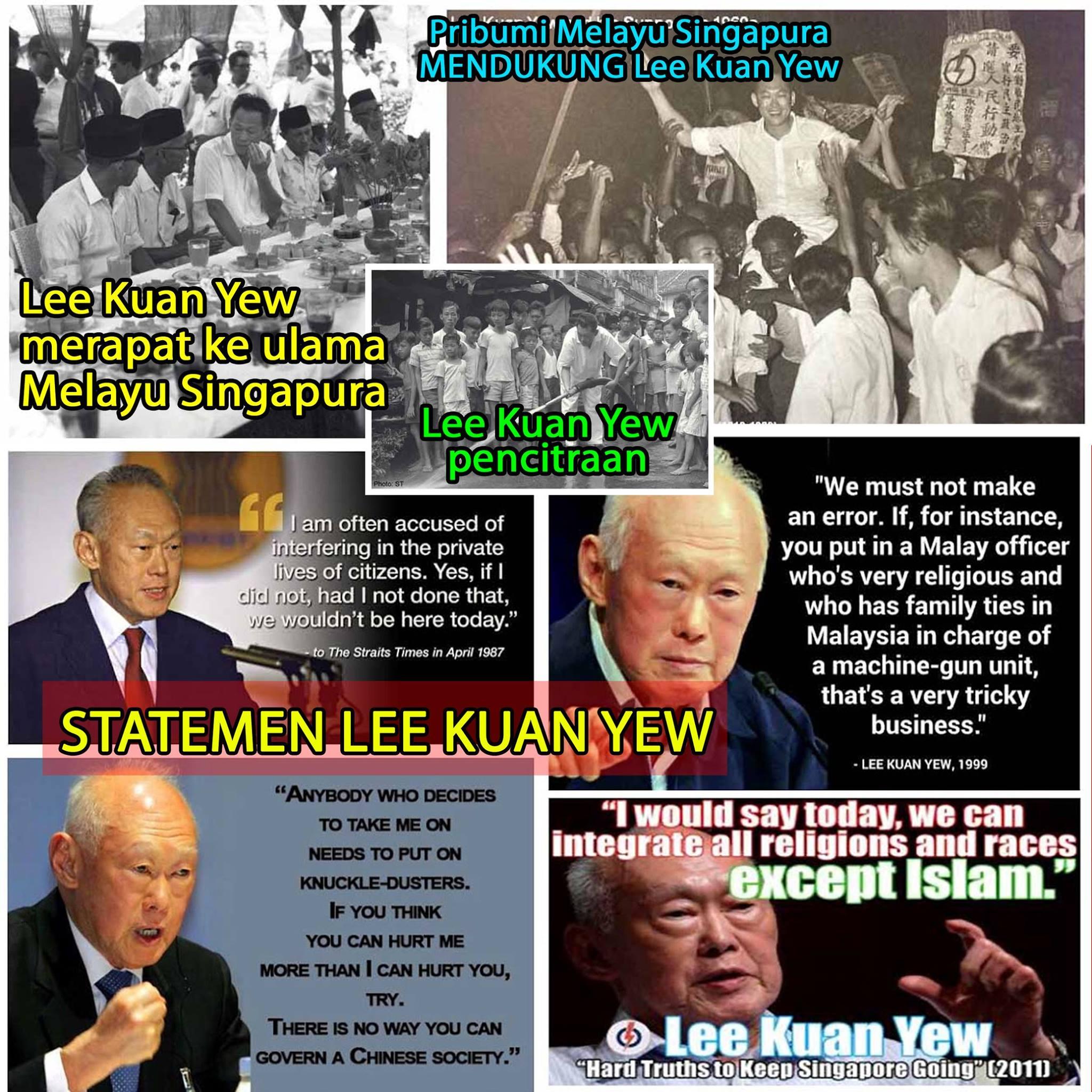 Cara Lee Kuan Yew Menipu Muslim Melayu Singapura