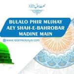 Bulalo Phir Mujhay Aey Shah-e-Bahrobar, Madine Main