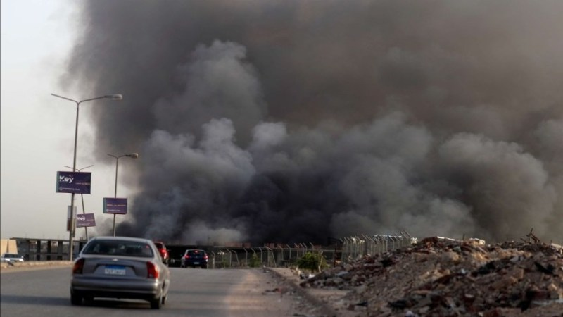 Fire kills seven people in Egyptian hospital treating COVID patients