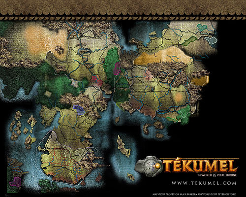 Map from www.tekumel.com