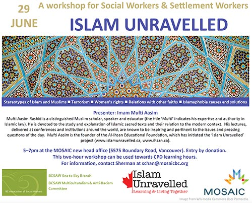 Islam Unravelled Workshop for Social and Settlement Workers