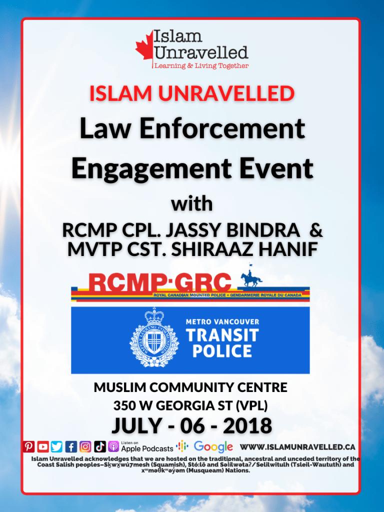 Law Enforcement Engagement Event: Muslim Community Centre