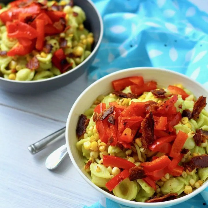Avocado Pasta with Summer Vegetables