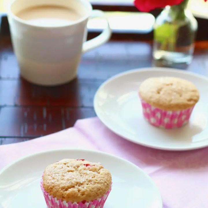 Roasted Strawberry Muffins