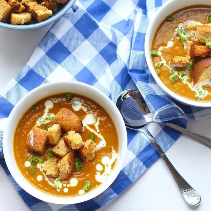 Roasted Sweet Potato and Apple Soup