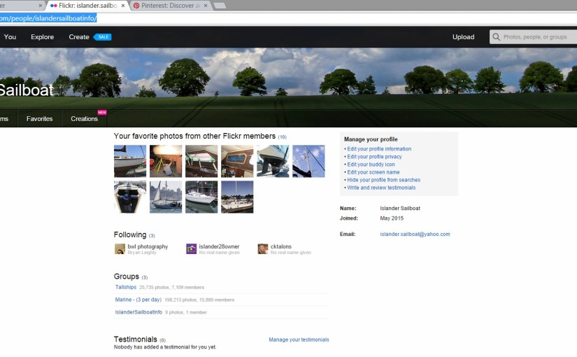Flickr profile finally up and running