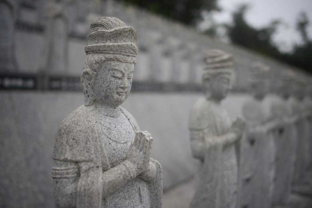 Photo: Japanese Guanyin (Kannon) sculptures
