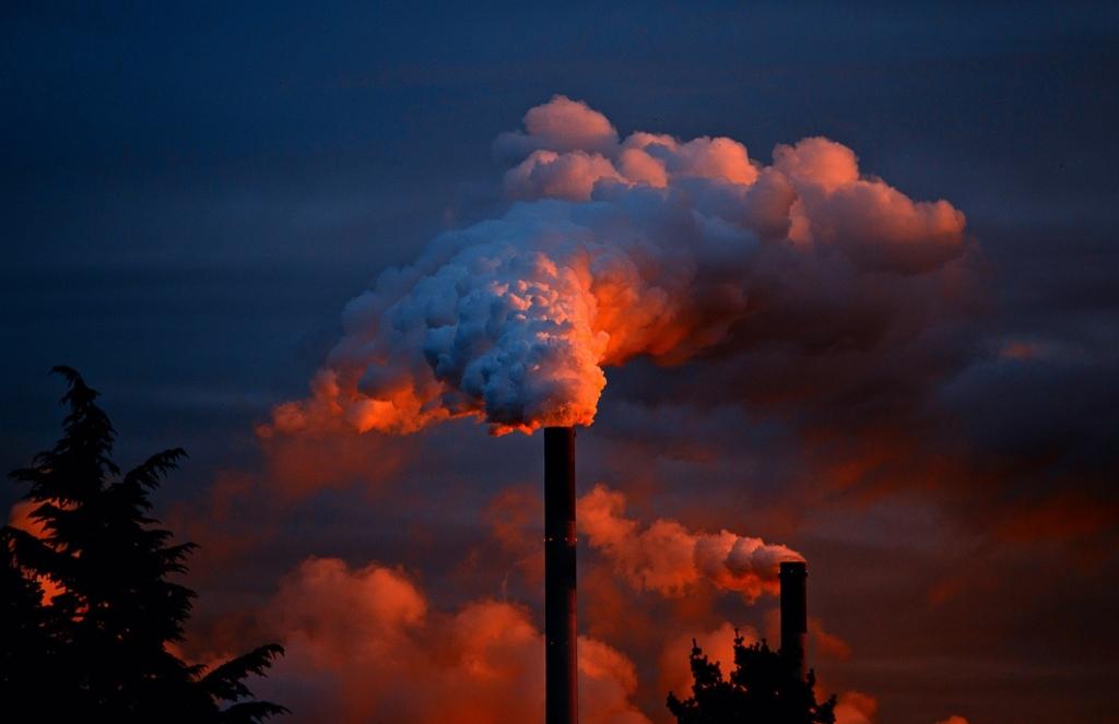 Photo: Chimney—industrial polution