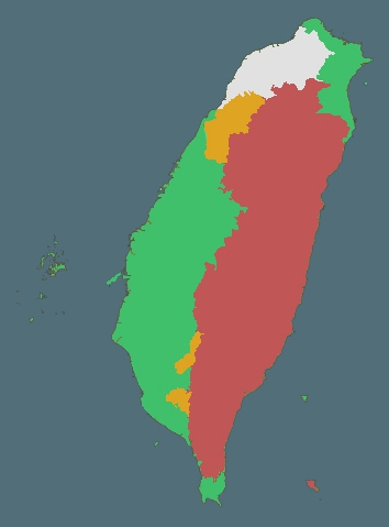 Map: Languages of Taiwan