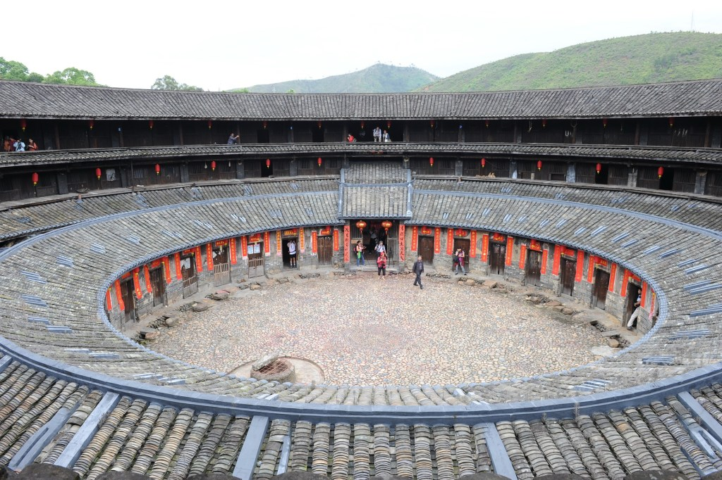 Photo: Typical circular Hakka fortress-settlement