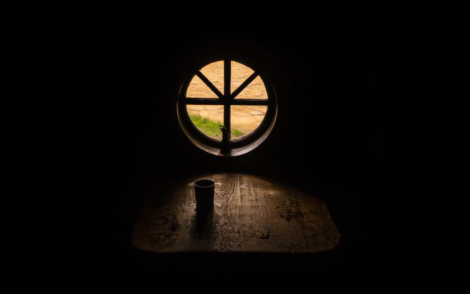 Photo: Light through a Hobbit's window