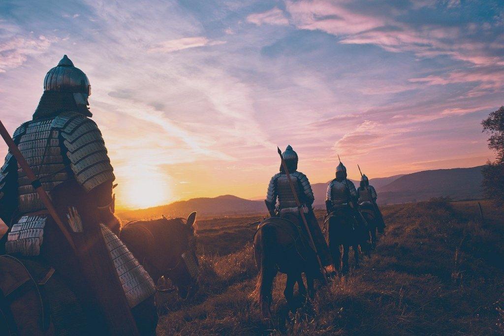 Image: Cavalry horsemen