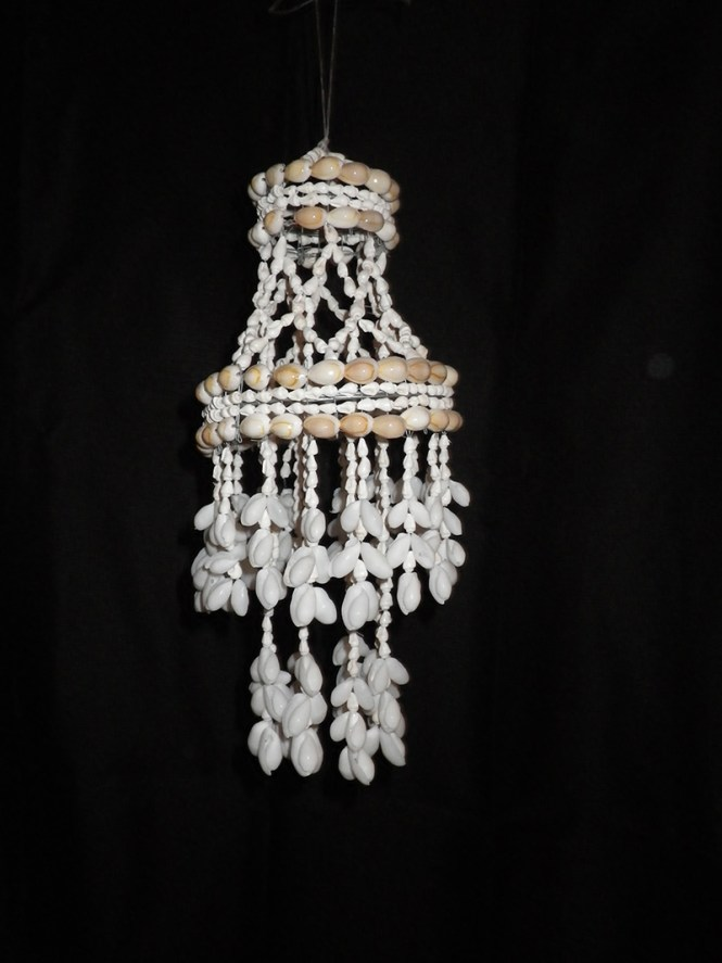 Shell Chandelier Small Cowrie Shells 16 Home Wind Chimes