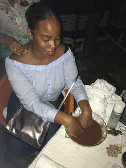 Detoxifying Chocolate Hand Soak with Neck and Back Massage