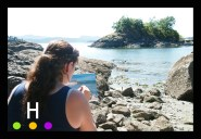 Painting on location at Grimmer Bay, Pender Island, BC, Canada