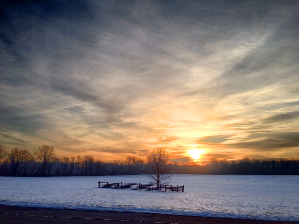 Sunrise over Princeton Battlefield Park