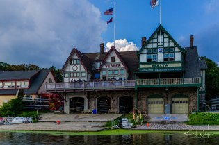 Party time at Boathouse Row on the Schuylkill River