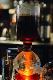 I had my first siphon brewed coffee at Rojo's in Princeton.