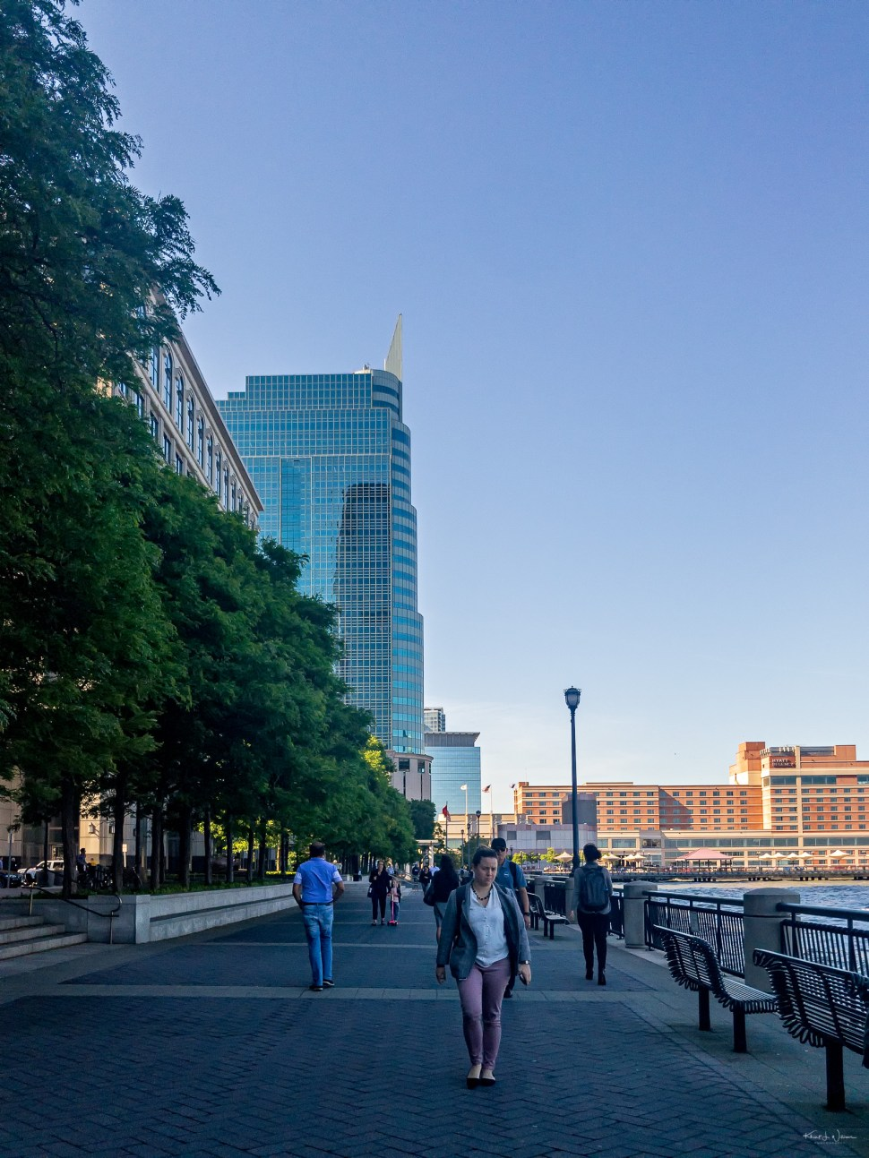 People, Waterfront, Jersey City, Spring, New Jersey