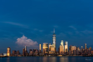 View of the Lower Manhattan Cityscape from Harborside, Jersey City