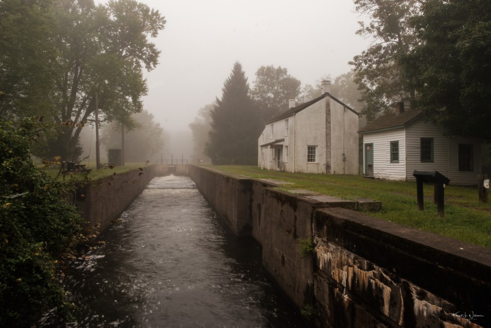Kingston, Kingston Lock, Lock, Fog