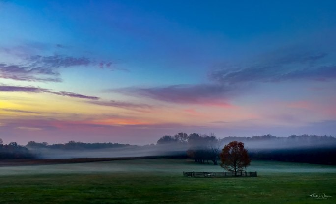 """""""Princeton Battlefield State Park in the Fog"""" — 29 October 2014 — Apple iPhone 6 + iPhone 6 back camera 4.15mm f/2.2 @ f/2.2, ISO 800"""