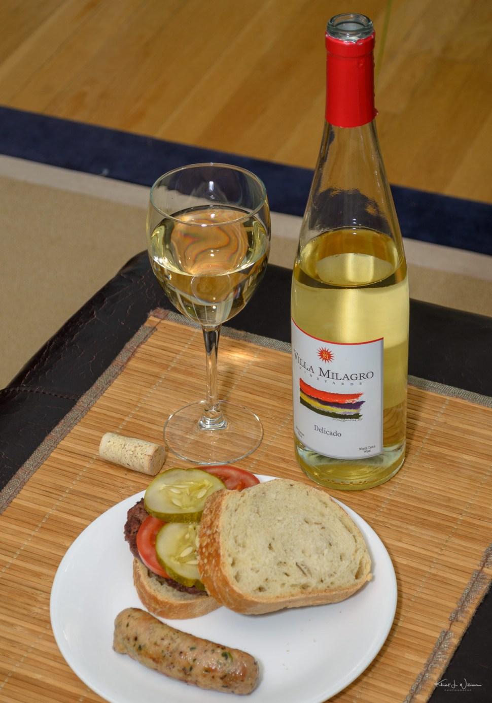 wine, farmers market, food, glass, bottle, burger