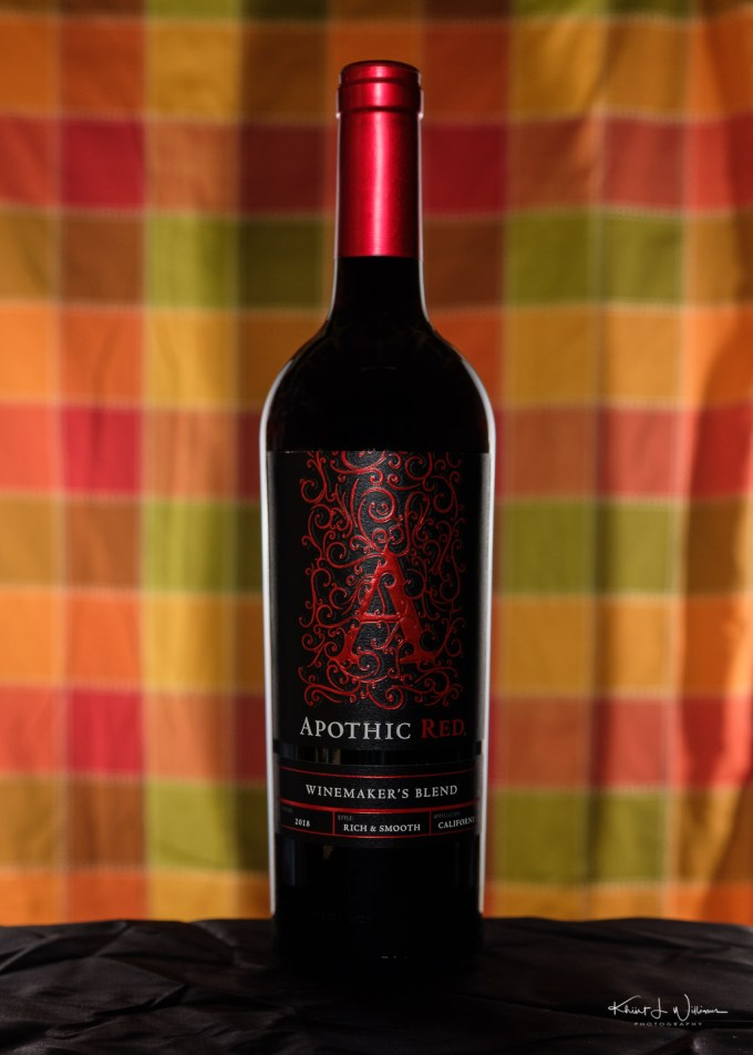 Bottle of Apothic Red Wine