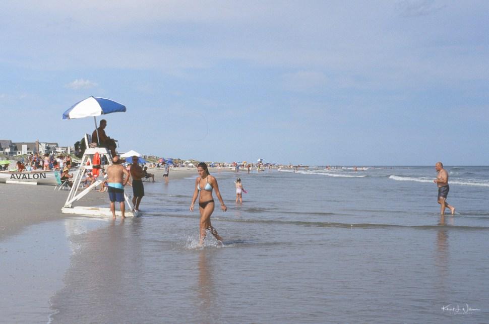 Woman in Bikini on Avalon Beach
