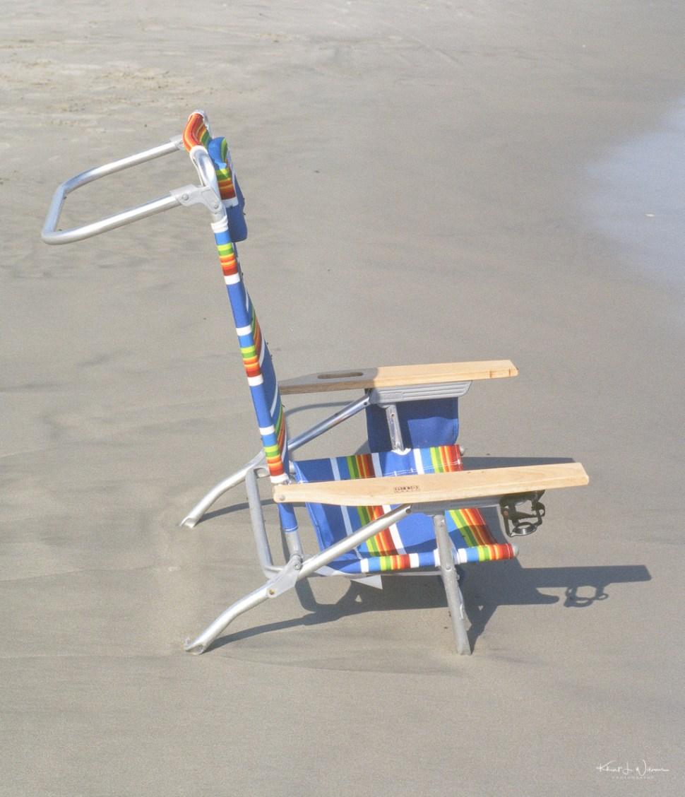Beach chair on Avalon Beach