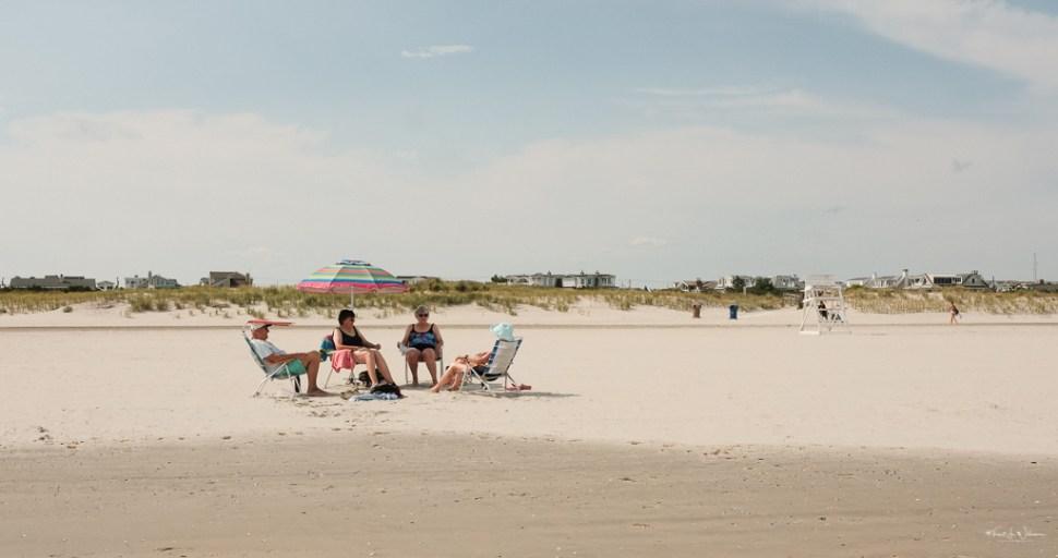People Beach Scene