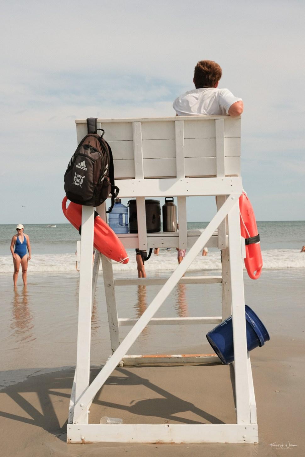 Life Guard Beach Scene