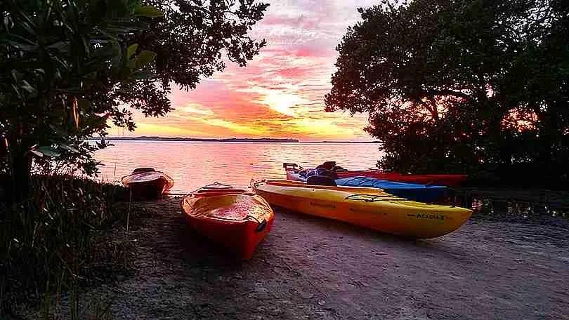 Island Kayak Tours sunset tour launch site