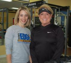 Cindy Black with Teri Daly at BodyEdge Fitness Studio