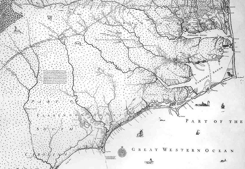 Map of the Province of North Carolina 1733