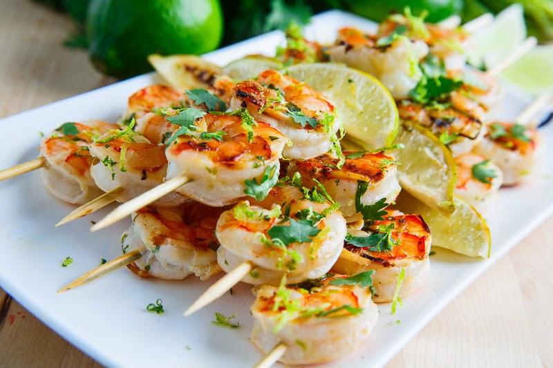 Recipe Lime-Marinated Shrimp Kabobs