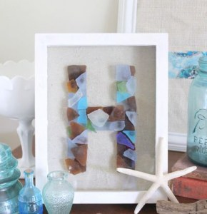 Sea Glass Monogram Framed