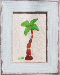 Sea Glass Palm Tree
