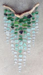 Sea Glass Wind Chime Decoration