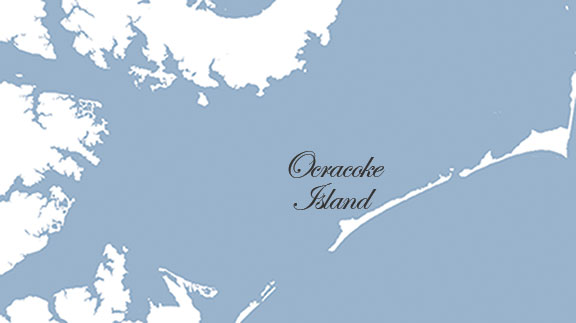 Map of Ocracoke Island NC Pirates of the Carolinas
