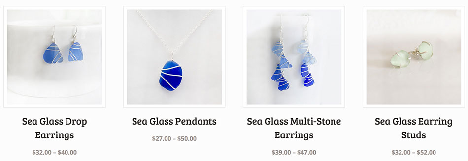 Handmade Sea Glass Jewelry from coastal Carolina
