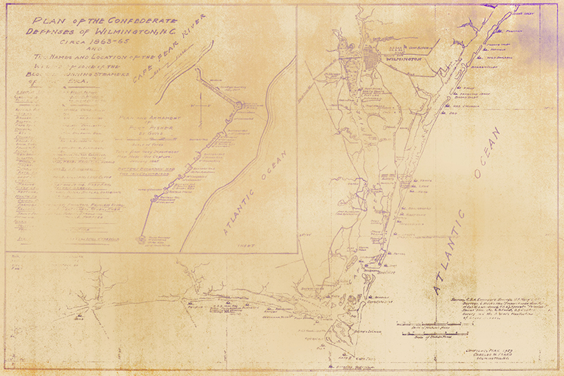 Fort Fisher Confederate Map